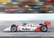 Indy Car Painting Framed Prints - Emerson Framed Print by Robert Hooper