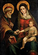 Holy Art Prints - Emilian Artist, Holy Family, 16th Print by Everett
