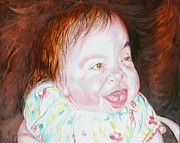 Prized Framed Prints - Emilie the most precious handicapped girl Framed Print by PainterArtist FINs husband Maestro
