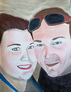 Couple Pastels Prints - Emily and Jack Print by Cathy Jourdan