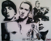 Eminem Painting Metal Prints - Eminem Metal Print by Barry Boom