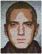 Slim Shady Posters - Eminem M and M Candy Mosaic Poster by Paul Van Scott