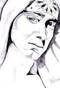 Signed Prints Drawings - Eminem by Sachith Bandara senanayake
