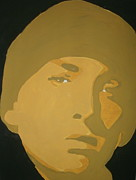 Eminem Painting Originals - Eminem Yellow by JJ  Burner