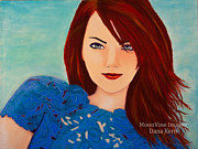 Framed Pastels Originals - Emma by Dana Kern