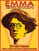 Russian Revolution Framed Prints - Emma Goldman Framed Print by Larry Butterworth