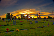 Superb Framed Prints - Emmett Cemetery Framed Print by Robert Bales