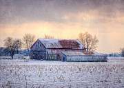 Rural Digital Art Prints - Emmetts Barn Print by Pamela Baker