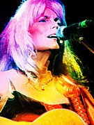Dobro Digital Art Posters - Emmylou Harris #02 Poster by Julie Turner