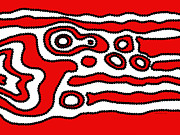 Aboriginal Art Digital Art - Emotion flow of passion by Lida Bruinen