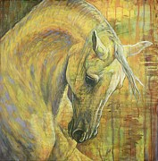 White Horse Paintings - Emotion by Silvana Gabudean