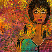 African-american Mixed Media Posters - Emotional Truth Poster by Angela L Walker