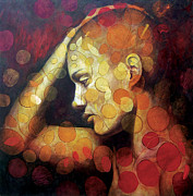 Girl Paintings - Emotions by Karina Llergo Salto
