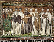 Byzantine Posters - Emperor Justinian And His Court. Ca Poster by Everett