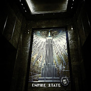 Empire State Building Digital Art Metal Prints - Empire Art Deco Metal Print by Natasha Marco