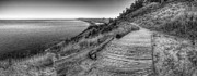 Scenic Drive Prints - Empire Bluff in Black and White Print by Twenty Two North Photography