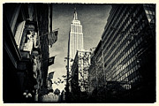 Filmnoir Posters - Empire State Building and Macys in New York City Poster by Sabine Jacobs