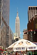 Mamma Metal Prints - Empire State Building Metal Print by Ann  Murphy