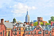 Empire State Building From The High Line Print by Randy Aveille