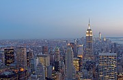 Rockefeller Center Prints - Empire State Building In Midtown Manhattan Print by Juergen Roth