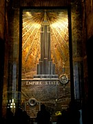 Empire State Building - Magnificent Lobby Print by Miriam Danar