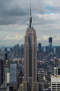 New York Vista Posters - Empire State Building portrait Poster by Gary Eason