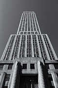 Edifices Posters - Empire State Building Rising II Poster by Clarence Holmes