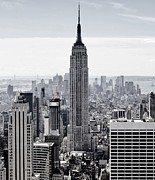 Knicks Prints - Empire State Print by CD Kirven
