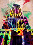 Paint Drips Framed Prints - Empire State Framed Print by Gary Grayson