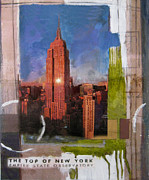Nyc Mixed Media - Empire State Icon Collage by Andrew Sullivan