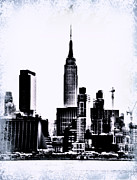Broadway Digital Art Metal Prints - Empire State - NYC Metal Print by Bill Cannon