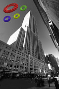 City And Colour Framed Prints - Empire State of the Rings  Framed Print by Rob Hawkins