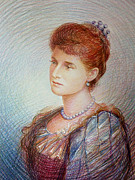 British Portraits Drawings Prints - Empress Alexandra Feodorovna of Russia Print by George Alexander
