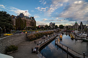 Canada Photos - Empress Hotel and Victoria Harbor by Mike Reid