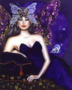 Regeneration Paintings - Empress of the Crystal City of Light by Ilene Satala