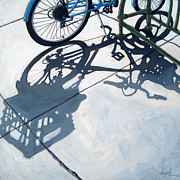Cycling Art Paintings - Empty Baskets by Linda Apple