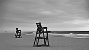 Life Guard Prints - Empty Beach Print by Mark Miller