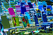 Empty Chairs Print by Garry Gay