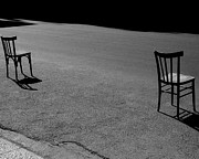 Symbology Metal Prints - Empty Chairs - Palermo Metal Print by Philip Sweeck
