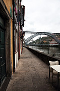 Historic Center Framed Prints - Empty in Porto Framed Print by John Rizzuto