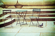 Patio Table And Chairs Posters - Empty Poster by Karol  Livote