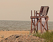 Empty Lifeguard Chair Print by Rita Brown