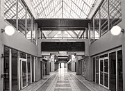 Glass Wall Prints - Empty mall Print by Rudy Umans