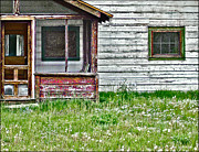 Abandoned Houses Digital Art Metal Prints - Empty nest Metal Print by John Anderson