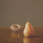 Pear Pastels Prints - Empty Nester Print by Barbara Groff