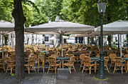 Patricia Hofmeester - Empty outdoor cafe in Europe