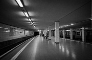 Berlin Germany Prints - empty Potsdamer Platz s-bahn station Berlin Germany Print by Joe Fox