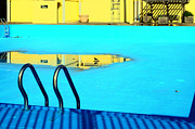 Recreational Pool Prints - Empty Public Swimming Pool Bronx New York City Print by Sabine Jacobs