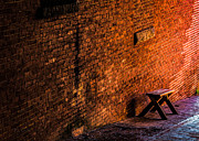 Bricks Prints - Empty Seat On A Hill Print by Bob Orsillo