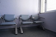 Healthcare And Medicine Posters - Empty seats in a waiting room Poster by Sami Sarkis